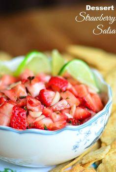 Dessert Strawberry Salsa with Lime  Cilantro