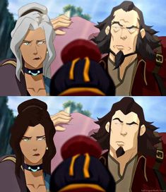 Older members of LoK if you turned back the clock a few decades. bumi and kya Avatar Aang, Avatar The Last Airbender Funny, Team Avatar, Avatar Airbender, Zuko, Avatar Cartoon, Avatar World, Art And Craft Videos, Avatar Characters