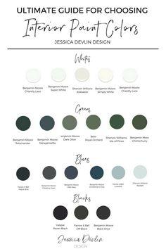 Interior Painting Colors, the best paint colors, chose paint colors