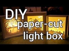 How to Make a Paper-cut Light Box : DIY. After being inspired by Hari and Deepti light box art I decided to make some cut paper light boxes and put together three tutorials, one advanced, one intermediate and one easy for you all! Kirigami, Shadow Light Box, Diy Shadow Box, Shadow Box Frames, Paper Cutting, Cut Paper, Shadow Box Kunst, Tunnel Book, Licht Box