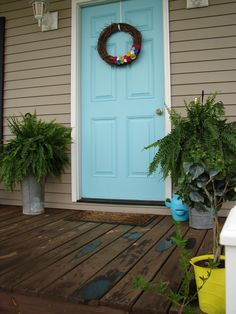 DIY with Jen and B: Our New Front Door-- And Spring Porch Decor