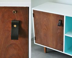 DIY Leather Furniture Pull Tutorial - visualheart