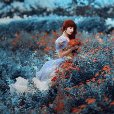 25 Perfect Portraits by Irina Dzhul #flowers #field #lady