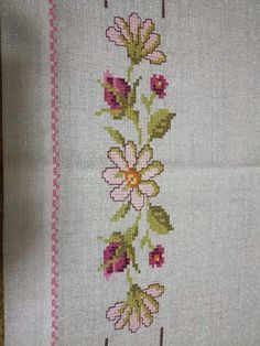 Beaded Cross Stitch, Diy Crafts, Embroidery, Tablecloths, Elsa, Flower, Bath Linens, Cross Stitch Embroidery, Diy And Crafts