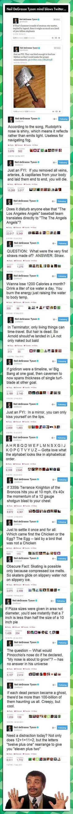 Neil DeGrasse Tyson mindblows Twitter