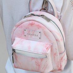 Marble Effect Mini Zippy 🎀 Grafea Backpack, Backpack Purse, Leather Backpack, Mochila Kpop, Mochila Adidas, Cute Mini Backpacks, Stylish Backpacks, Girl Backpacks, Fashion Bags