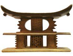 Ashanti Tribal Double Stool #30   Ashanti/Asante Stools   Stools / Chairs — Deco Art Africa - Decorative African Art - Ethnic Tribal Art - Art Deco