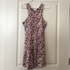 Umgee open-back dress Maroon + White, super flattering, high waist and back cut-out Umgee Dresses Backless