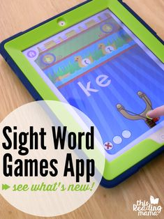 I can't wait to tell you about our updated Sight Word Games App today because I know you're going to love the updates*! If you've read about or use our Sight Word Games App, you know what a fun… Spelling Activities, Sight Word Activities, Word Games, Sight Word Apps, Sight Word Practice, Reading Games, Teaching Reading, Teaching Boys, Learning Apps