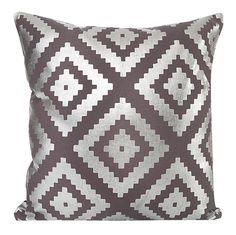 Srebne wzory stalowa poszewka na poduszkę 40x40