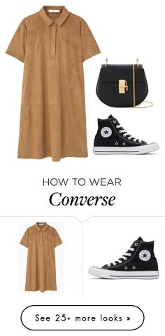 """ain't nobody got time for he said she said"" by yourlovewillneverlast on Polyvore featuring MANGO, Converse and Chloé"
