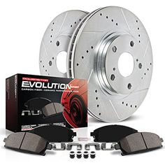 Rear Cross Drilled Coateded Brake Rotors Ceramic Pads Fit 2014 2015 Kia Rondo