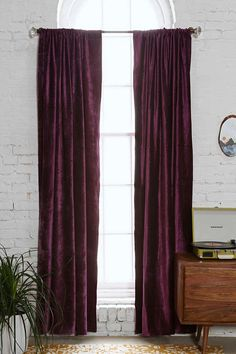 Magical Thinking Velvet Curtain - Urban Outfitters