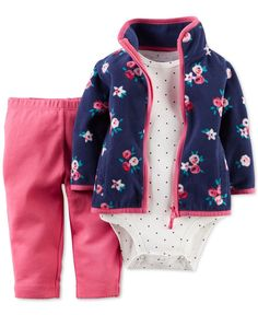 Carter's Baby Girls' 3-Piece Cardigan, Bodysuit & Pants Set - Kids Baby Girl (0-24 months) - Macy's