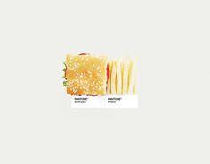 Pantone Burger. Pantone Fries. Funny Food.