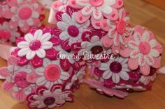 bouquet bouquet feltro,botões,linha cosido á mão