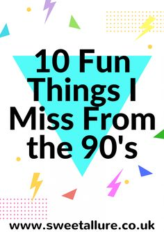 Every miss the 90's? Indulge in some nostalgia with me and talk about the things I miss from my 90's childhood.   10 Fun Things I Miss From The 90's.