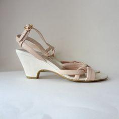 soft pink etienne aigner sandals size 7 by racksabbath, $38.00 #vintage #shoes