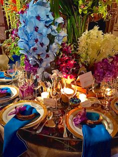 The New York Botanical Garden Orchid Dinner is always a favoriteevent of the season. A first look at the beautiful designer tables.