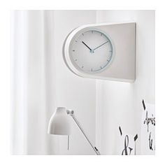 IKEA - POFFARE, Wall clock, You can place the clock in different locations – on a wall, over a door or standing on a surface – then turn the clock face to suit the location.