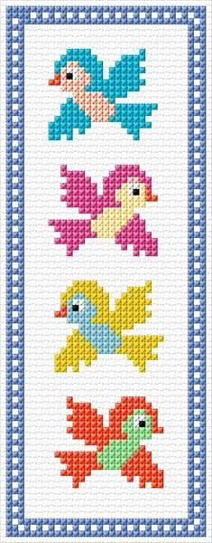 35 x 89 stitches 11 colors Cross Stitch Geometric, Tiny Cross Stitch, Disney Cross Stitch Patterns, Butterfly Cross Stitch, Cross Stitch For Kids, Cross Stitch Bookmarks, Cross Stitch Alphabet, Cross Stitch Animals, Cross Stitch Designs