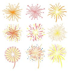fireworks vector illustration by topvectors on creativemarket