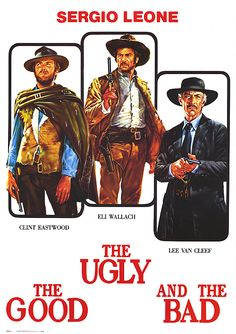 Italian movie poster for The Good, the Bad and the Ugly starring Clint Eastwood, Eli Wallach and Lee Van Cleef from 12 x 24 inches. Clint Eastwood, Eastwood Movies, Lee Van Cleef, Classic Movie Posters, Original Movie Posters, Classic Films, Film Movie, Comedy Movies, Kino International