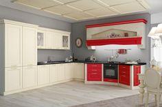 Cucina Prestige Rossa http://www.spar.it/cucine-prestige/prestige-rossa?utm_source=pinterest.com&utm_medium=post&utm_content=prestige&utm_campaign=pin-cucine-classiche