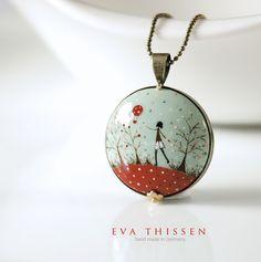Godspeed unique handpainted pendant. | Flickr - Photo Sharing!