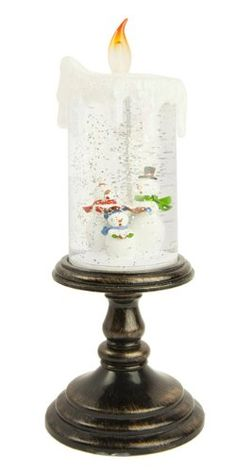 20% Off was $30.00, now is $23.99! Gerson LED Sparkling Snowmen Candle Snow Globe
