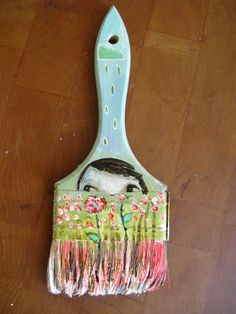 """Altered Paint Brushes  artist Mindy Lacefield for Donna Downey's global """"The Altered Brush Project""""  what a fun creative idea.  Love you Donna!"""