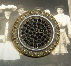 Antique Victorian Black Glass Button by ohmymilky on Etsy