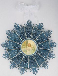 Snowflake wreath Tara's Craft Studio img 11
