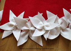 Garnet hill tree skirt knockoff - Uncommon Designs