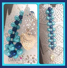 Bracciale perle bicolore con cuore    per info: info@daniadesign.it  #bracciale #braccialeperle #bracelet #bicolore #2colori #accessori #accessories #handmade #fattoamano #madeinitaly #creazioni #creations #handmadecreations #bijoux #perle #perlecolorate #beads #fashion #style