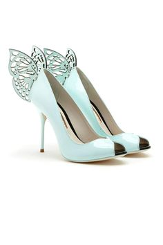 Sofía Webster light blue butterfly open-toe