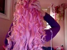 pink curls