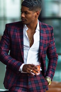 Mens Fashion Tips .Mens Fashion Tips Blazer Outfits Men, Stylish Mens Outfits, Mens Fashion Suits, Mens Suits, Black Men In Suits, Gentleman Mode, Dapper Gentleman, Gentleman Style, Moda Formal