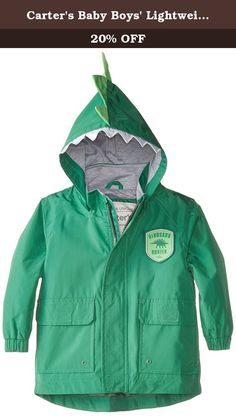 Carters Baby Boys Lightweight Single Jacket, Green, 12 Months. Infant outerwear.
