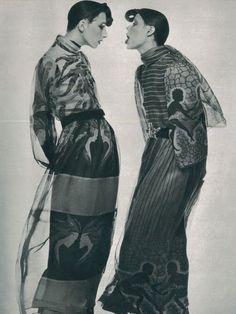 :Anjelica Huston and Wallis Franken by Guy Bourdinfor Vogue Paris, 1971