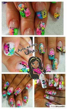 Cute Nail Art, Cute Nails, Cute Pedicures, La Nails, Manicure Y Pedicure, Long Acrylic Nails, Nail Designs, Finger Nails, Templates