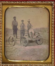 Daguerreotype, photography,occupational railroad workers