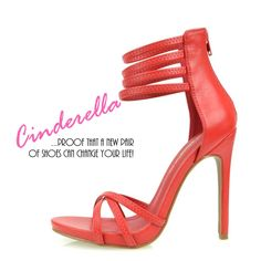 A New Pair Of Shoes Can Change Your Life…  @ www.FABrebel.com #stiletto #sandals #shoes #heels #minimalist #strappy #red #trendy #fashionshoes #stylish #fashionfinds #iloveshoes #shopping  #fabrebel