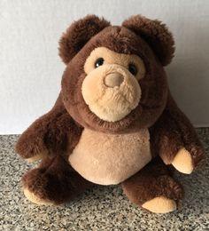 """Gund Vintage 1987 Plush Bumbles Bear Brown Stuffed Animal Korea K7 10""""  #GUND"""