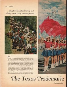 1966 THE TEXAS TRADEMARK vintage magazine article ~ Flair for the Flamboyant ~ The Texas Trademark: Flair for the Flamboyant - Photographed by Ralph Crane - PART TWO - People who relish the big and showy -- and doing as they please - Texas is so big ...