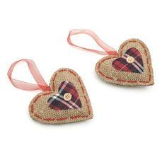 Tartan Heart Decorations