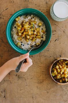 Cinnamon Quinoa Porridge With Orange-Rosemary Apples