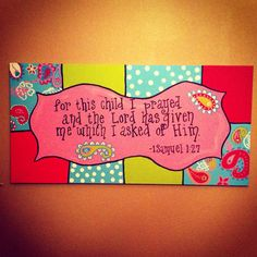 Pixie Baby Bedding  Aqua matching canvas Art by SympliCute on Etsy,  Love this verse