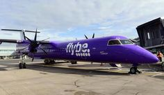 Flybe Purple Plane #PlanePorn