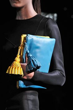 Runway S/S 2014 Anya Hindmarch two clutches
